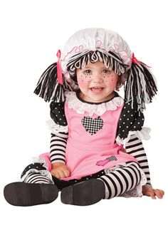 Baby rag doll costume #Halloween #Infant