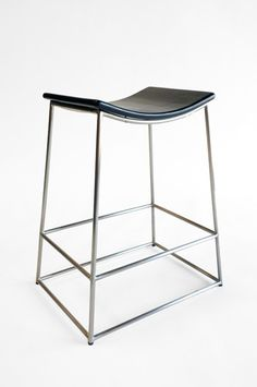 SOBU Crate Counter Stool in Stainless and Black