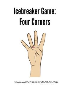 Icebreaker: Four Corners - Fun, active game for your next women's ministry event! #icebreaker #icebreakergame #fellowship #womensministry