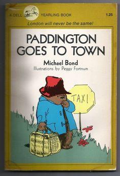 Vintage 1980 Paddington Goes to Town Michael Bond Paperback Childrens Book Bear 0440467934 | eBay