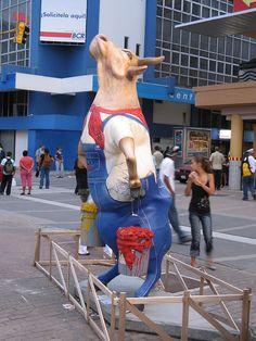 Cow Artist - Cow Parade in San Jose, Costa Rica (2008); photo by kibuyu, via Flickr