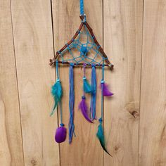 Check out this item in my Etsy shop https://www.etsy.com/listing/549491351/turquoise-dreamcatcher-boho-purple-wall