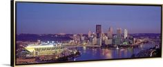 Canvas with Floating Frame entitled Pittsburgh PA, Gold