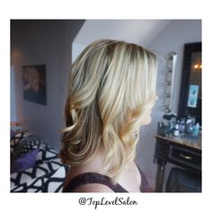 Gorgeous blonde #TopLevelSalon done by Michelle  Looking for a new look. Come stop by Top Level Salon. Check out our work on Facebook and Instagram @ TopLevelSalon #Toplevelsalon