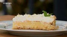 Τάρτα λεμονιού με σαντιγί Sweet Pie, Sweet Tarts, My Favorite Food, Favorite Recipes, Cobbler, Vanilla Cake, Cheesecake, Sweets, Candy