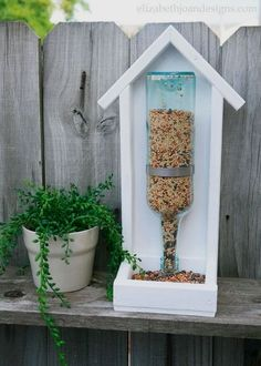 It's time for another installment of The Home Depot Gift Challenge. Today, I am sharing How To Build A Wine Bottle Bird Feeder and the best part is that it isn'… #WoodworkingProjects