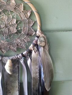 Tears of Gaia Handmade Eco Dyed Doily Dream Catcher by DreamRaes, $65.00