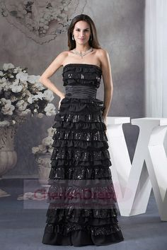 Best Prom Dresses Shop offers Ruffled Layers Strapless long Column 2013 Prom Dress in Black price under column/sheath black color,floor length chiffon sequined zipper back train for prom formal evening . Affordable Prom Dresses, Best Prom Dresses, Black Prom Dresses, Cheap Prom Dresses, Pageant Dresses, Formal Evening Dresses, Evening Gowns, Strapless Dress Formal, Dress Prom