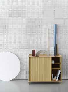 The Muuto Enfold Tall Sideboard is a folding door sideboard from Muuto is for office or home use. Buy at Muuto sideboards from Utility today - Original Design. Sideboard Design, Tall Sideboard, Credenza, Side Board, Rustic Furniture, Furniture Design, Led Furniture, Muuto, Factory Design
