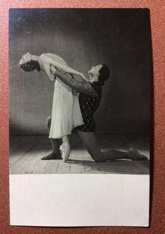 Vintage soviet photo postcard 1955 Russian ballet Romeo Juliet Ulanova Zhdanov 2