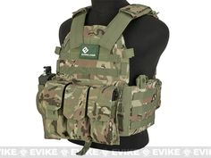 Avengers 6D9T4A Tactical Vest with Magazine and Radio Pouches - Camo
