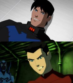 YJ - Nightwing and Robin III unmasked by sizzleshorts