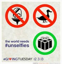 Charity Navigator: The World Needs #unselfies. GIVING TUESDAY 3rd December 2013