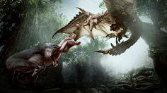 8K Dinosaur vs Dragon Monster Hunter World Game 7680x4320