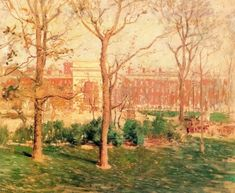 Washington Square, New York - Paul Cornoyer - The Athenaeum