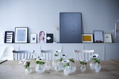 The chic pastel dining room at Chez Marie Sixtine, a guest apartment in Paris, Julie Ansiau photo | Remodelista