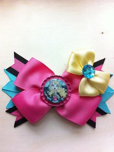Blue and Pink themed Monster High Lagoona Blue Bow by lendura, $5.99