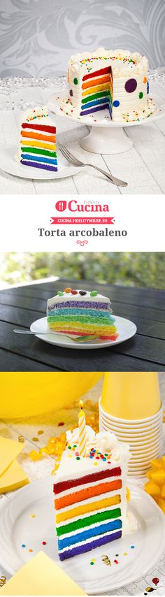 Torta arcobaleno 4th Birthday, Birthday Cake, Cake & Co, Its My Bday, Baby Party, Cooking Time, Amazing Cakes, Nutella, Holiday Recipes