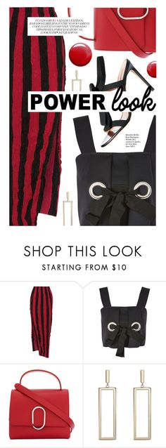 """""""What's Your Power Look?"""" by cultofsharon ❤ liked on Polyvore featuring Juan Carlos Obando, Topshop, 3.1 Phillip Lim and Whiteley"""