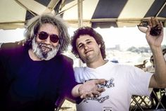 Jerry Garcia with Bob Minkin at Laguna Sea in 1987. (Photo by Anne Minkin)