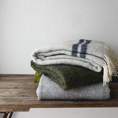 British Made Herringbone Stripe Blanket Grey - The Future Kept - 4