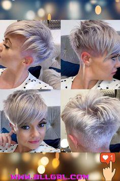 Funky Short Haircuts, Edgy Short Hair, Really Short Hair, Super Short Hair, Cute Hairstyles For Short Hair, Girl Short Hair, Short Hair Cuts For Women, Short Hair Styles, Short Hair Images