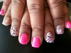 Nails #bow #gift #nailart