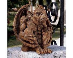 Gargoyle Sculpture Garden Statue Outdoor Patio Lawn Figurine