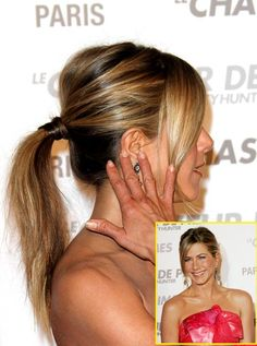 Mid-high pony at Paris premiere of Bounty Hunter.