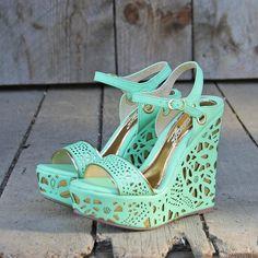 Mint Green Wedges fashion shoes wedges mint green sandal
