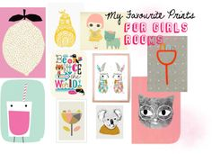My Favourite Art Prints for Girl's Rooms