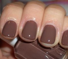 I`m really loving Essie Nail Polishes right now, and I can`t say enough about them! One of my favorite colors are Hot Cocoa, which is the perfect Chocolate