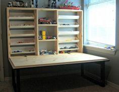 Flip down kids play cabinet plans - Woodwork City