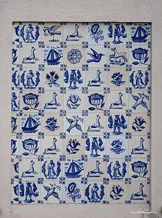 azul desejo Portuguese Tiles, Delft, Minis, Folk Art, Greece, Portugal, Pottery, Quilts, Artist