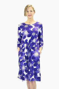 Ristomatti Ratia Sinivuokko Ilma Dress Blue/White