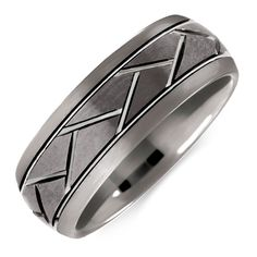 This stylish and durable tungsten ring features an engraved design, and will make the perfect gift for the man who knows style.