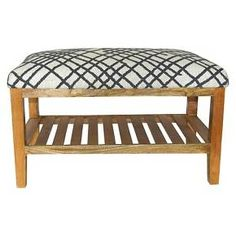 Upholstered Wood Bench with Shelf - Threshold™