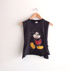 80s vintage cropped Mickey Mouse grunge muscle tank by louiseandco, $22.00