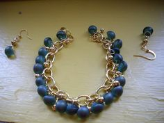 SALE Blue Green Zircon Mushroom Top and Gold by DesignsbyPattiLynn, $40.00
