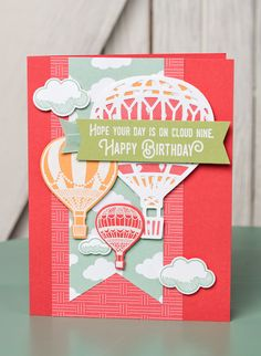 We can't get enough of the Lift Me Up bundle from the Occasions Mini. Those hot air balloons are just so incredible. #stampinup #OccasionsMini2017