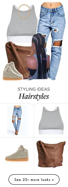 """✨"" by newtrillvibes on Polyvore featuring T By Alexander Wang, Boohoo, H&M, NIKE and Sessions"
