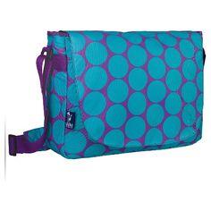 Wildkin Big Dot Aqua Laptop Messenger Bag