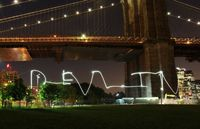 USA New York photography class Brooklyn Bridge www.rememberforever.co Light Painting your name