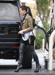 with my black over the knee boots on the way - this is the perfect outfit inspiration!
