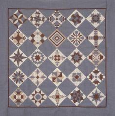 Passionnée de patchwork, et en particulier de sampler, mais aussi de littérature, j'ai donné à mon nouvel ouvrage le nom de Karen b, en hommage à Karen Blixen. La couleur bleue, je l'associe au Dan...