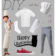 """""""DIY Halloween Costume: Alfredo Linguini"""" by my-dudely-side on Polyvore"""