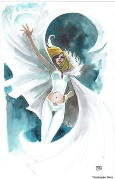 Ah, to be sexy and blonde and have incredible mutant powers.