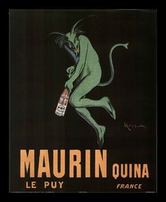 Global Gallery 'Maurin Quina, ca. by Leonetto Cappiello Framed Vintage Advertisement on Canvas Vintage Ads, Vintage Posters, French Posters, Vintage Wine, Vintage Graphic, Vintage Prints, Vintage Style, Wine Poster, Poster Poster