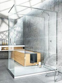 Corner rectangular shower cabin LINEA by MAKRO | #Design Makro Design #bathroom #grey #minimal