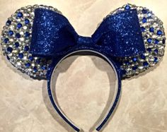 Snow White Bedazzled Minnie Mouse Ears by MouseketeerEars on Etsy